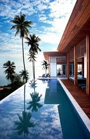 infinity pool beach house. Log Cabin House On Beach Front Property With An Infinity Pool I