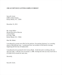 Job Acceptance Letter Employment – Kensee.co