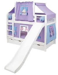 bunk bed with slide. Plain With Maxtrix Playhouse Tent Bunk Bed W Slide Purpleblue On White  In With Slide N