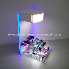 china led acrylic countertop display stand for usb charger