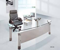home office glass desk. Spacious Office Furniture Design With Modern Desk Equipped Glass Tops On White Doff Flooring Plan: Work Comfort Comfort. Home S