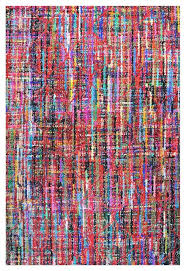 bright colorful multi color wool area rug 9 x12 recycled