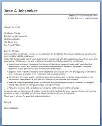 Radiologic Technologist Cover Letter Gorgeous Medical Technologist