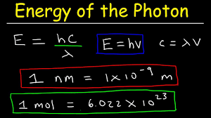 how to calculate the energy of a photon given frequency wavelength in nm chemistry
