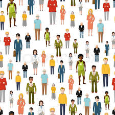 People Pattern New A Large Group Of Flat Cartoon People Vector Seamless Pattern