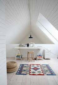 attic office ideas. small office design with colorful floor rug attic ideas