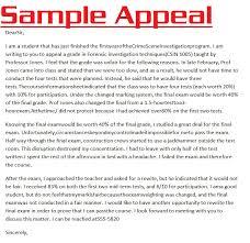 Appeal Letter Format Examples Appeal Letter 3000 Appeal Letter Sample
