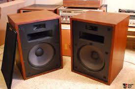 klipsch used speakers. vintage klipsch heresy speakers walnut finish used