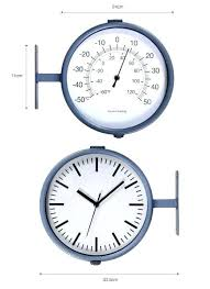 two sided clock double sided clock garden trading double sided outdoor clock thermometer clocks decor quince living quince living