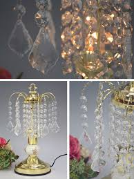 chandelier table lamp touch sensor antique lamp clear desk lamp gold glass crystal fashion classic classical interior imported gadgets european style