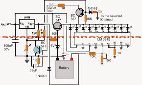 electronic circuit projects 3v 4 5v 6v 9v 12v 24v automatic the post explains an automatic battery circuit which can be used for charging and batteries