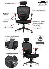 comfortable office chair. Moustache® Ergonomic Adjustable Mesh Office Chair Comfortable