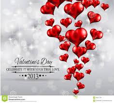Valentines Flyers Valentines Day Party Invitation Flyer Background Stock
