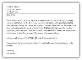 Examples Of Thank You Letters For Interviews How To Write A Business