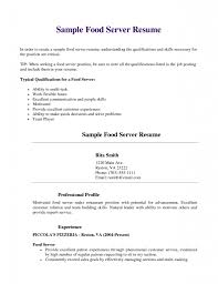Gallery Of Server Resume Example