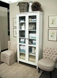 glass door cabinet did a similar organized linen closet using the full glass door cabinet glass door cabinet ikea canada