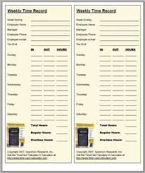 Time Card Sheets Free Time Sheet Calculator