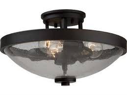 artcraft lighting san antonio brushed nickel three light semi flush mount light