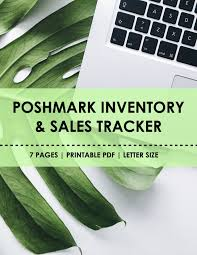 Poshmark Tracking Poshmark Management Kit Poshmark Inventory Sheet Poshmark
