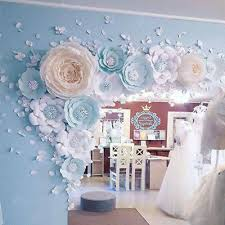 Paper Flower Wedding Backdrops 30 40cm Paper Flower Backdrop Wall Decor Rose Flowers
