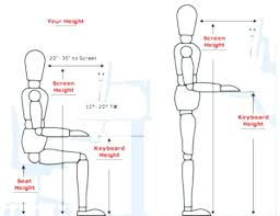 ideal desk height cm worthy ergonomic desk chair height in attractive home designing ideas with difference