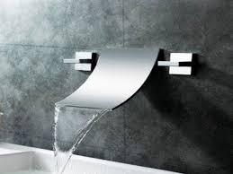 brushed nickel waterfall faucet