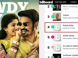 Latest Chart Songs Youtube Rowdy Baby Among Other Indian Songs On Billboard Youtube