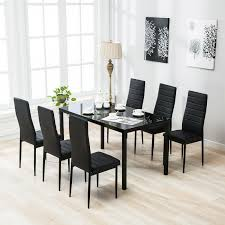 6 Piece Modern Dining Table Chairs Bench Set Mix Match Kitchen