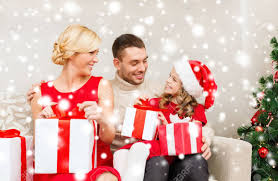 Family Christmas X Mas Winter Happiness And People Concept