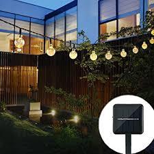 home lighting decor. Outdoor Solar String Light Garland 30LED Fairy Lights Bubble Crystal Ball Decorative Lighting For Home Decor