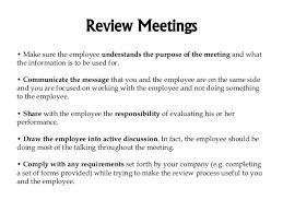 Review Meetings And Progress Discipline Principles