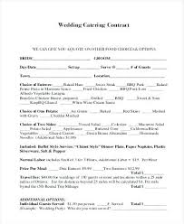 Catering Contract Samples Catering Contract Form Samples 8 Free Documents In Word