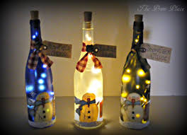 Decorative Wine Bottles With Lights Holiday Themed Lighted Bottles How To Make A Bottle Lamp 26