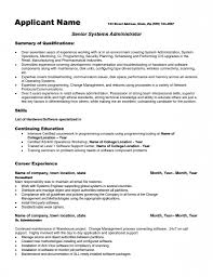 Linux System Administrator Resume Reference Public Administration