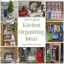 Lots of great organizing ideas for the whole kitchen!