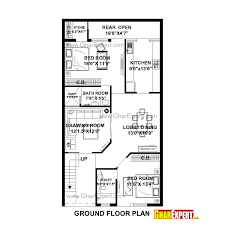 150 Square Feet Room House Plan For 27 Feet By 50 Feet Plot Plot Size 150 Square Yards