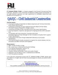 Contract Quality Engineer Cover Letter Image Gallery For Website