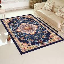 good quality oriental style tufted area rug latex or tpr backing non slip and eco friendly