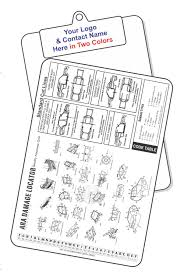 Ara Damage Locator Chart Clipboards Mike French Company Inc