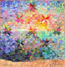 Colorwash Hunter Star Quilt Quilt by Jan P. Krentz & Colorwash Hunter Star Quilt Adamdwight.com