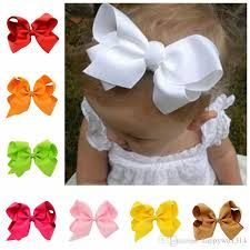 baby hair clips diy 6 ribbon bows with alligator clips boutique hair accessorise grosgrain ribbon solid color bow hairpins for girls handmade hair