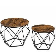 vasagle coffee tables set of 2 side