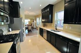 Black Cabinets Galley Kitchen Remodel Small Traditional Kitchens Style  Design Most Popular Layouts Ideas Of Irresistible .