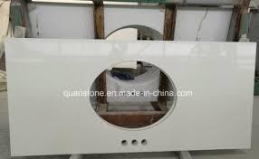 pure white quartz stone table top whole prefab quartz countertops