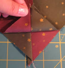 41 best quarter square triangle quilt images on Pinterest ... & Perfect half-square and quarter-square triangles and swirling the seams.  Great tutorial Adamdwight.com