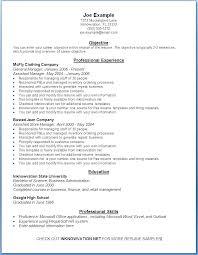 General Resume Outline Objective For Basic Resume Dew Drops