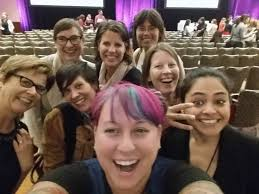 adobe employees take a quick selfie at the 3 conference in san francisco adobe san francisco