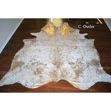 acid wash gold xl cowhide rug