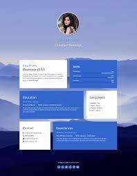 template easy profile screenshot