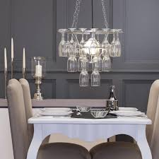 stunning wine glass chandelier for dining room